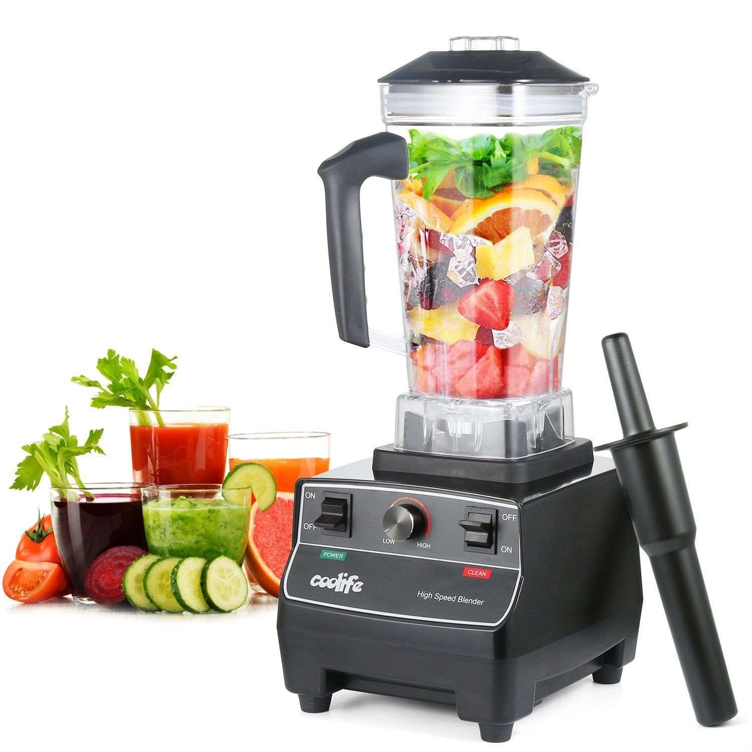 Mixeur , Coolife Blender Smoothies 1400W 2L Blender à Haute