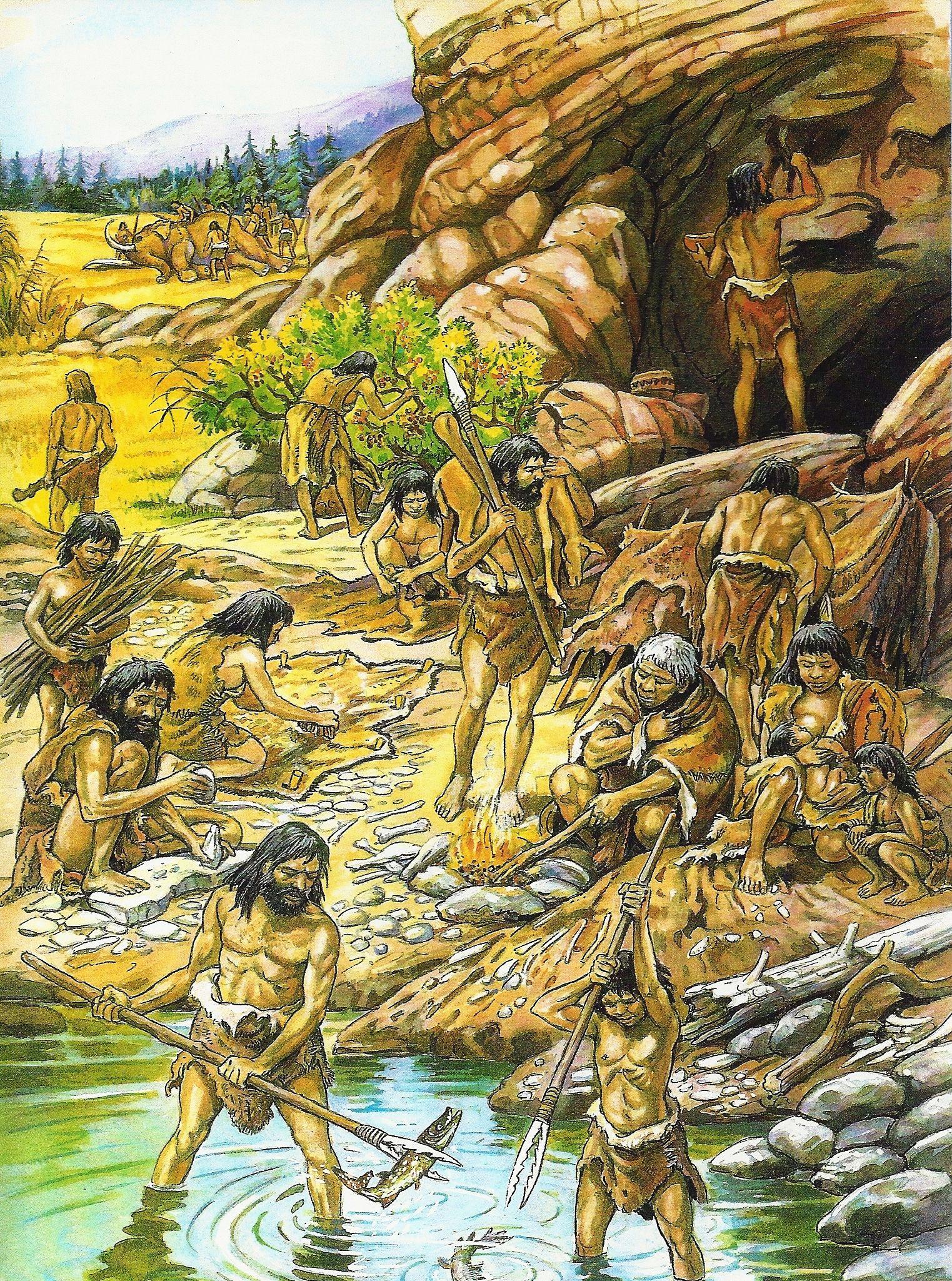 werkzaamheden in de oude steentijd (paleolithicum ...
