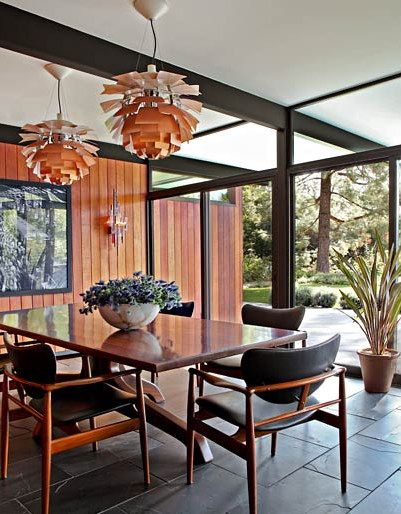 Mid Century Modern With Seamless Transition To Outdoorsthe Enchanting Dining Room Chairs Mid Century Modern 2018