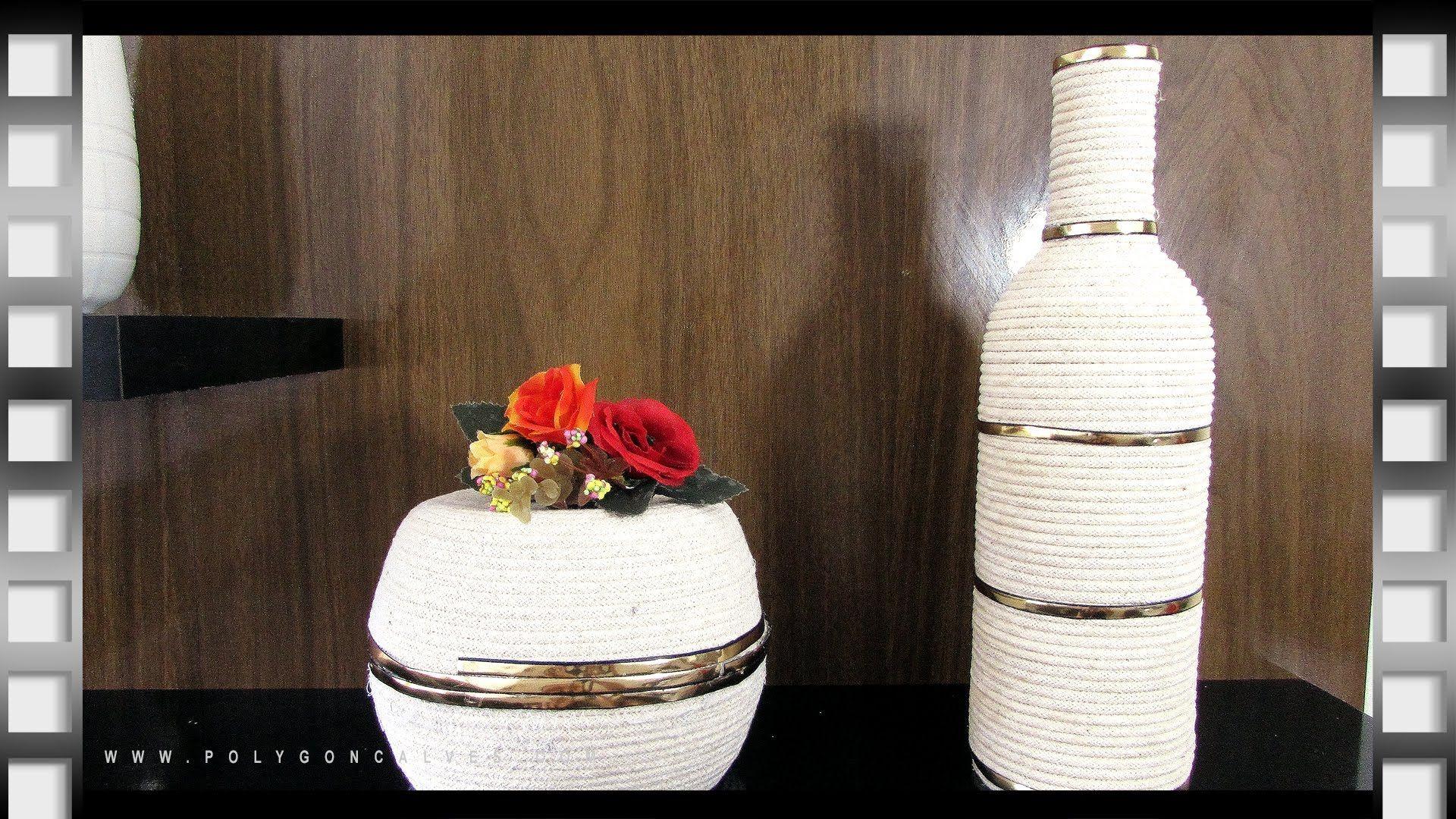 Faça você mesma decoração com barbante de tapeceiro | Poly Gonçalves