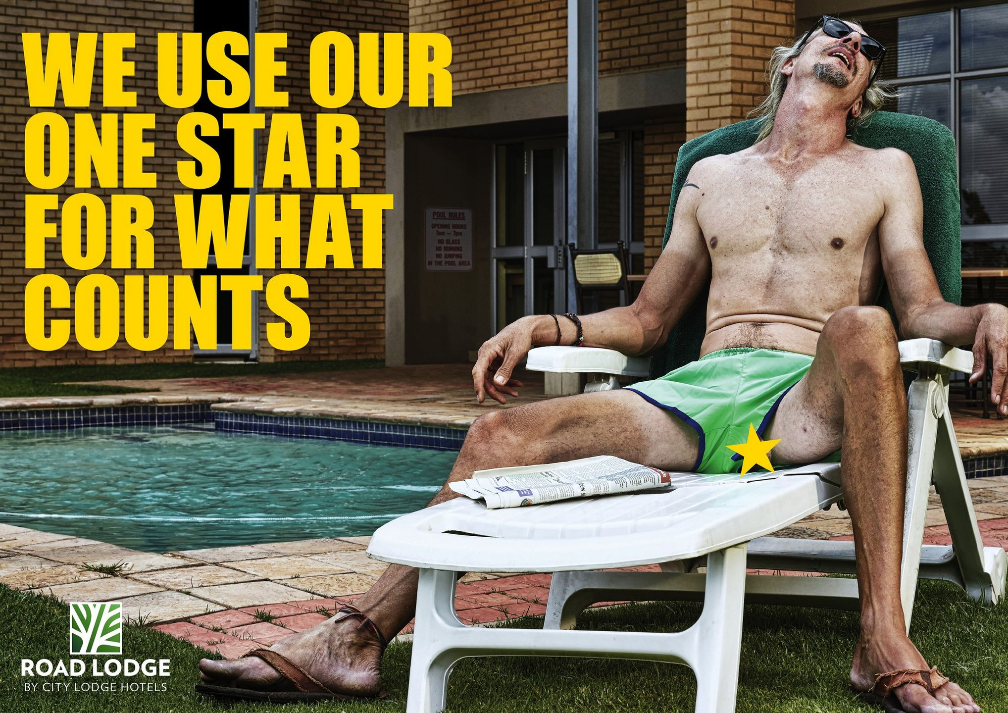 We use our one star for what counts. Advertising Agency