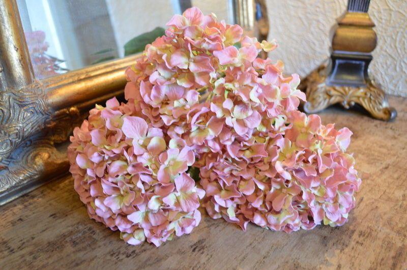 Antique pink silk hydrangea heavenlyhomesandgardens hydrangea mightylinksfo Image collections