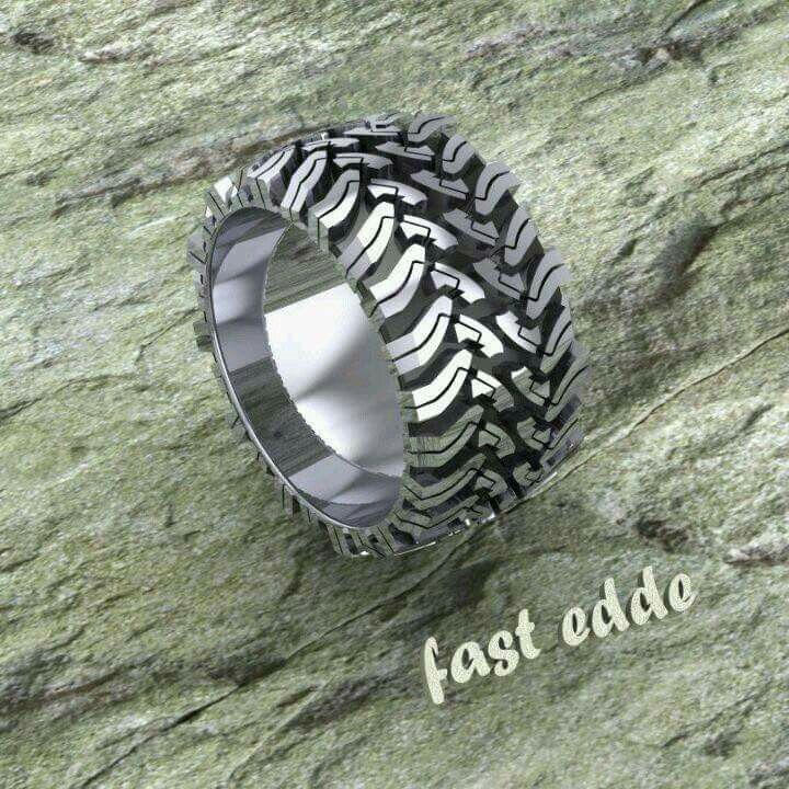 Off Road Tread Ring In Silver Have Emailed To Find Out Which It Is