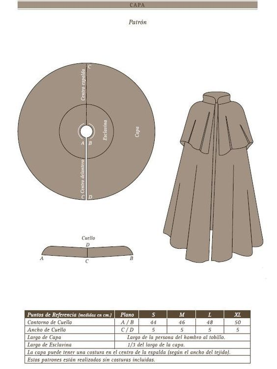 Image result for patrones vestuario historico capas | Dress Making ...