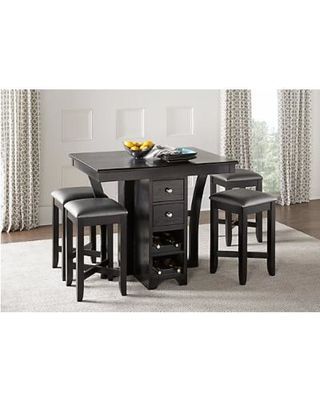 Rooms To Go Ellwood Black 5 Pc Bar Height Dining Set From Rooms To Endearing Islands Dining Room Decorating Inspiration