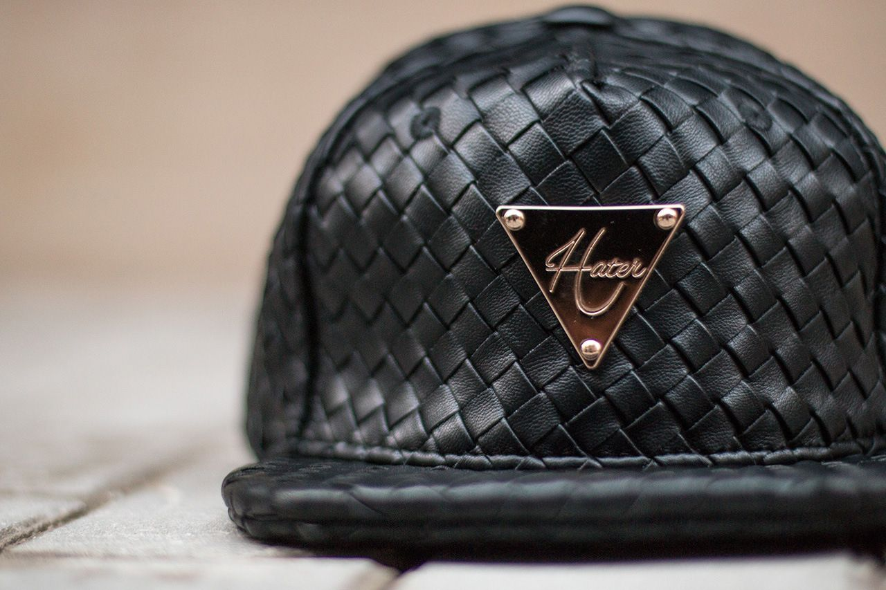 86538390efc05 Hater Snapback Introduces the Grain Leather Intrecciato collection ...