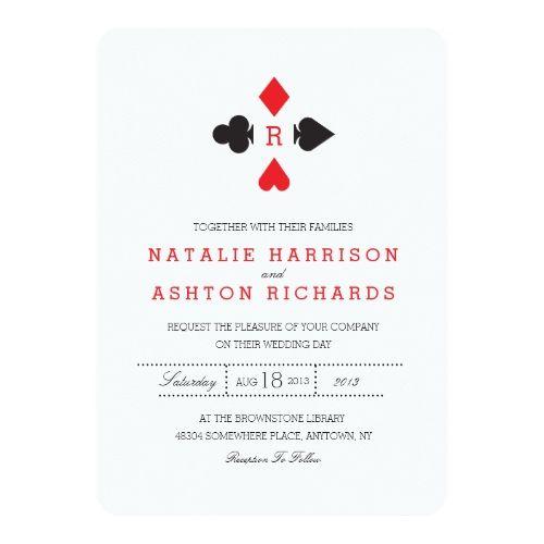 Casino Wedding Invitations