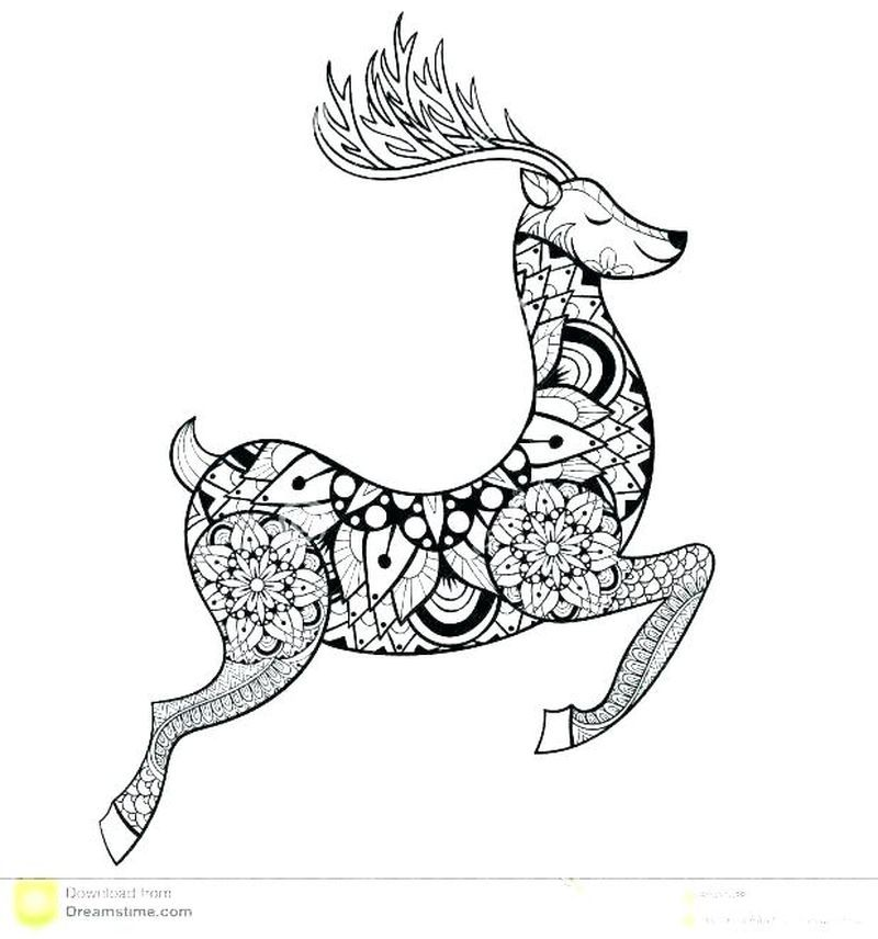 Coloring Pages Christmas Rudolph Print. Christmas is