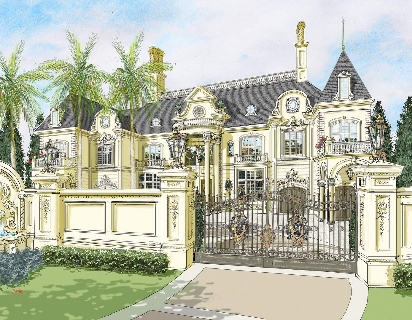 French Chateau Mansion House Plans Modern House