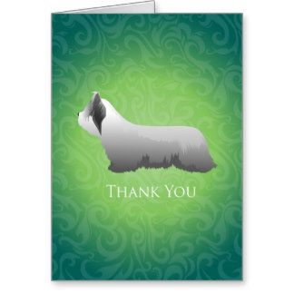 Skye Terrier Thank You Design Greeting Card
