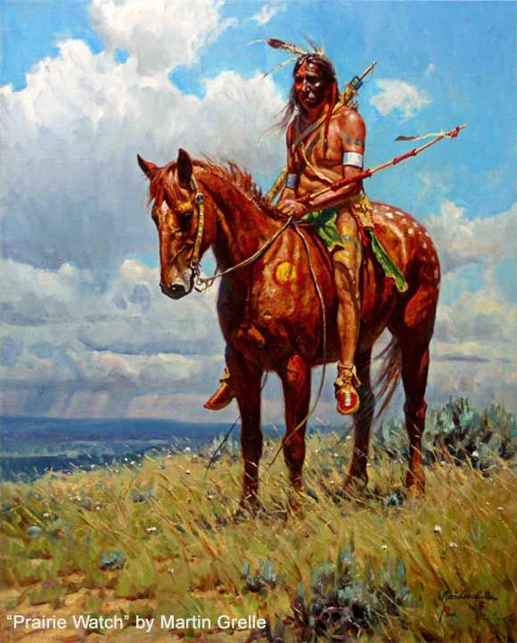 "1101 Best Images About Native American Art On Pinterest: ""Prairie Watch"" By Martin Grelle"
