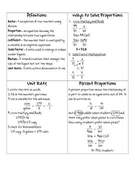 Proportions Notes | Math Journals | Proportion math, Math notes