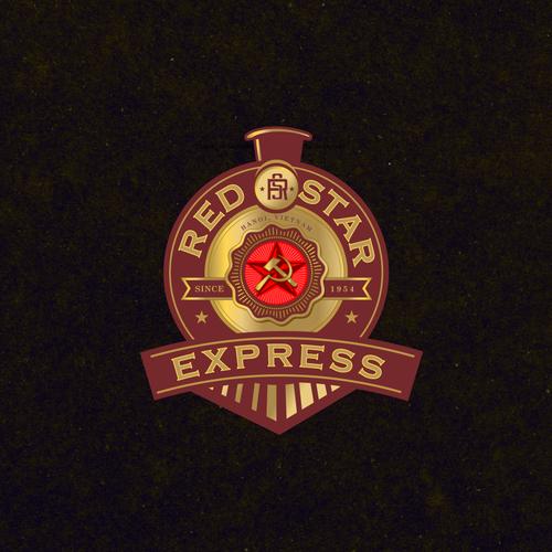 Red Star Express Vietnam Located Communist Themed Red Star Express Steam Train Tourist Service Needs Cl Logo Branding Identity Brand Identity Pack Red Star
