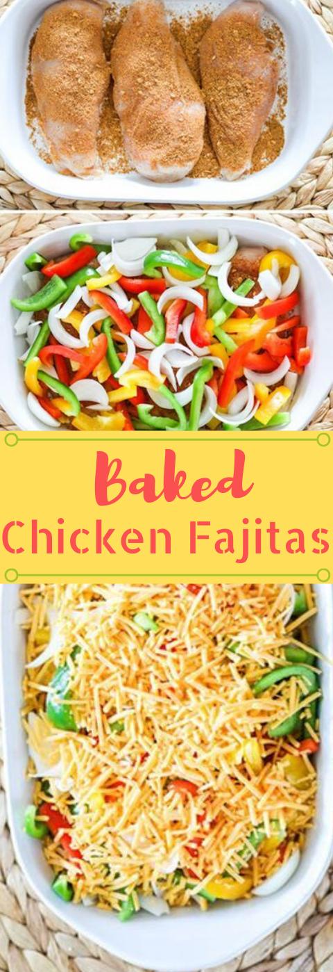 Baked Chicken Fajitas #healthydinner #chicken #baked #fajitas #cauliflower #recipeforchickenfajitas
