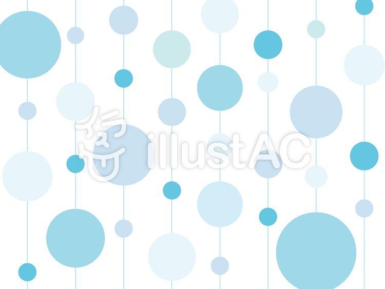 かわいいドットの壁紙ブルー 無料素材 ベクター 夏 ブルー