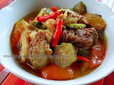 Asem Asem Iga Sapi Resep Masakan Resep Resep Masakan Indonesia