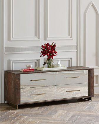Pratt Four Drawer Mirrored Dresser Dresser With Mirror Dresser Home Furnishings