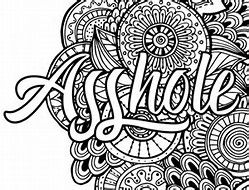Image Result For Cuss Word Adult Coloring Page Printable Book