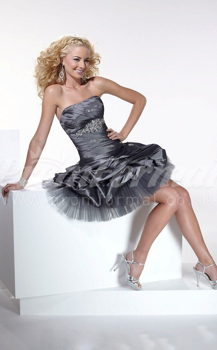 Dark silver ball gown short prom dressesshort prom dresses closet