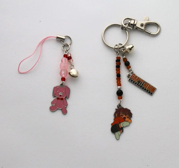 Gravitation Keychain and Phone Charm  Set of Two by ShishoDesigns