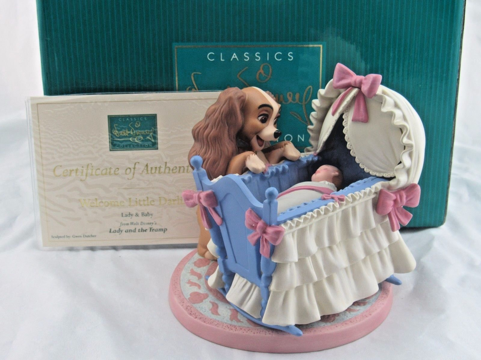 Lady And The Tramp Baby Wdcc Welcome Little Darling Lady Baby From Lady And The Tramp In Lady And The Tramp Disney Figurines Disney Gifts