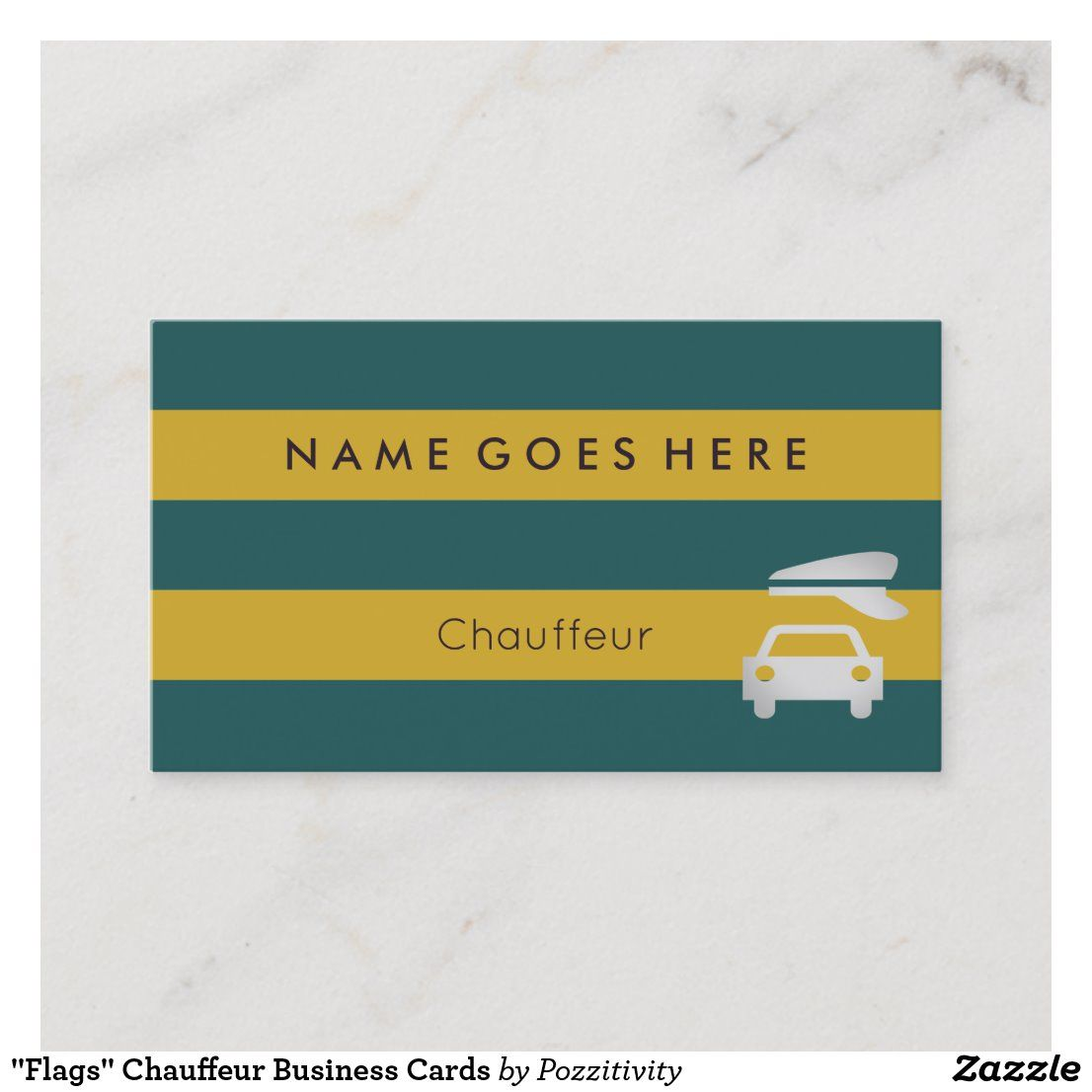 Flags Chauffeur Business Cards Zazzle Com In 2021 Chauffeur Business Cards Modern Business Cards