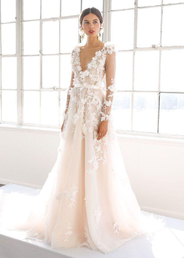 Marchesa Var Sommer 2017 Foto Getty Images Marchesa Bridal Wedding Dress Long Sleeve Wedding Dresses