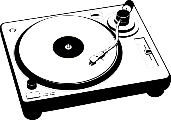 Turntable Vector Http Www Clker Com Cliparts V 1 J S S T Turntable Hi Png 600x421 Retro Record Player Turntables Art Turntable