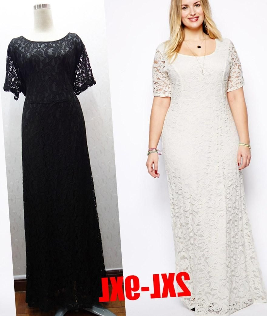 Plus size lace long dress pluslookdressesplussize