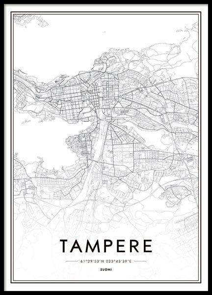 Tampere Juliste Juliste Kartta Karttajuliste