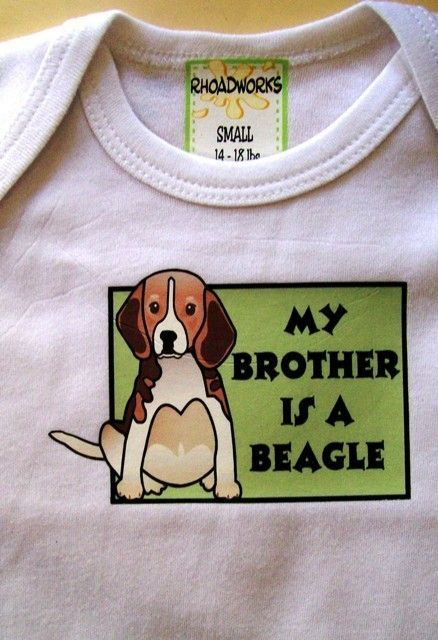 My Brother Is A Beagle Diaper Shirt Or Tee By Rhoadworks On Etsy
