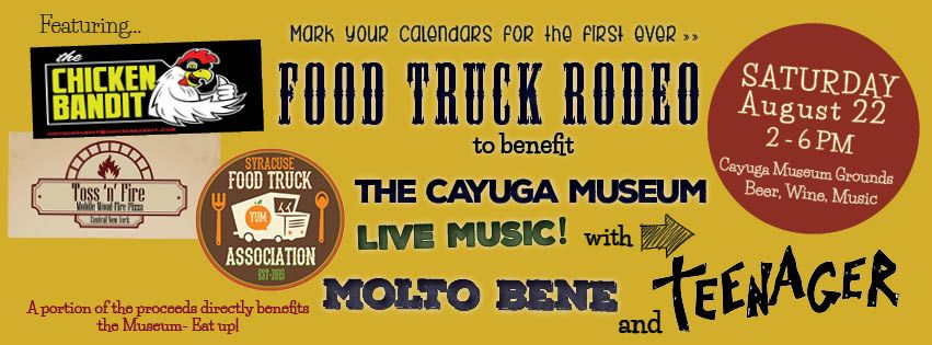 Food truck rodeo at the cayuga museum of history and art