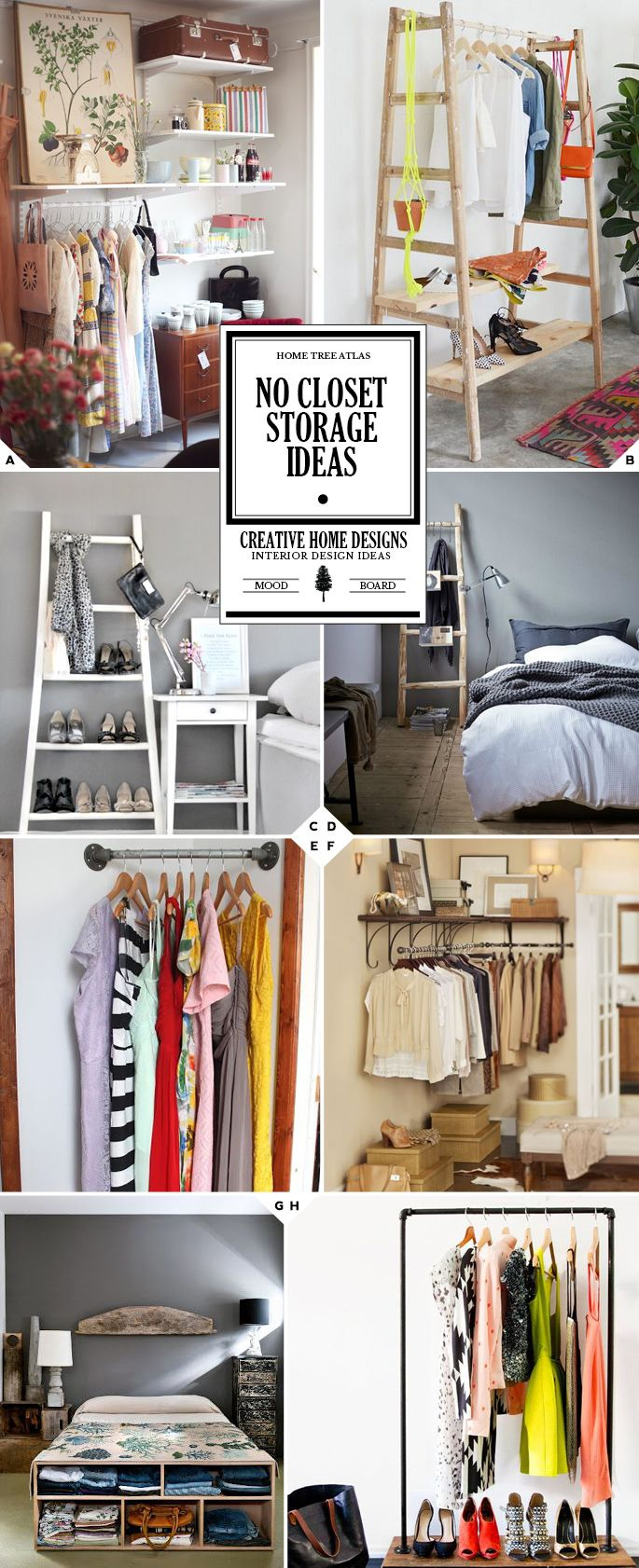 Getting creative no closet solutions and storage ideas - Room with no closet ...