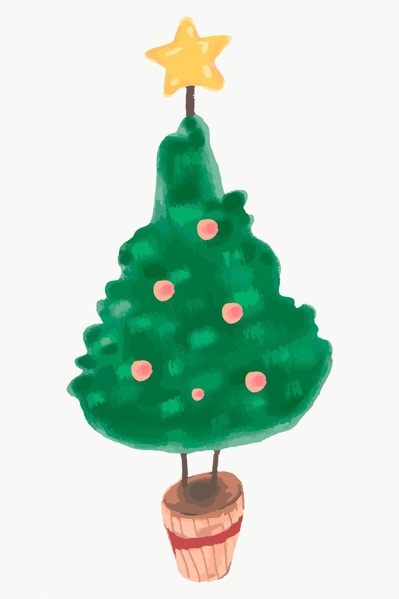 Download Premium Png Of Cute Christmas Tree Element Transparent Png 1231095 Cute Christmas Tree Christmas Wallpaper Christmas Tree