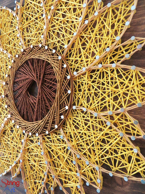 String Art Kit - Sunflower String Art, Arts and Crafts Kit, Flower ...