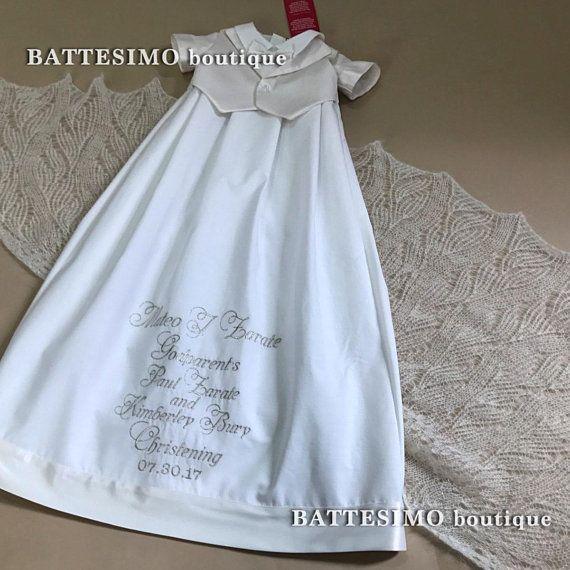 LITTLE GENTLEMAN christening gown, boys christening suit ...