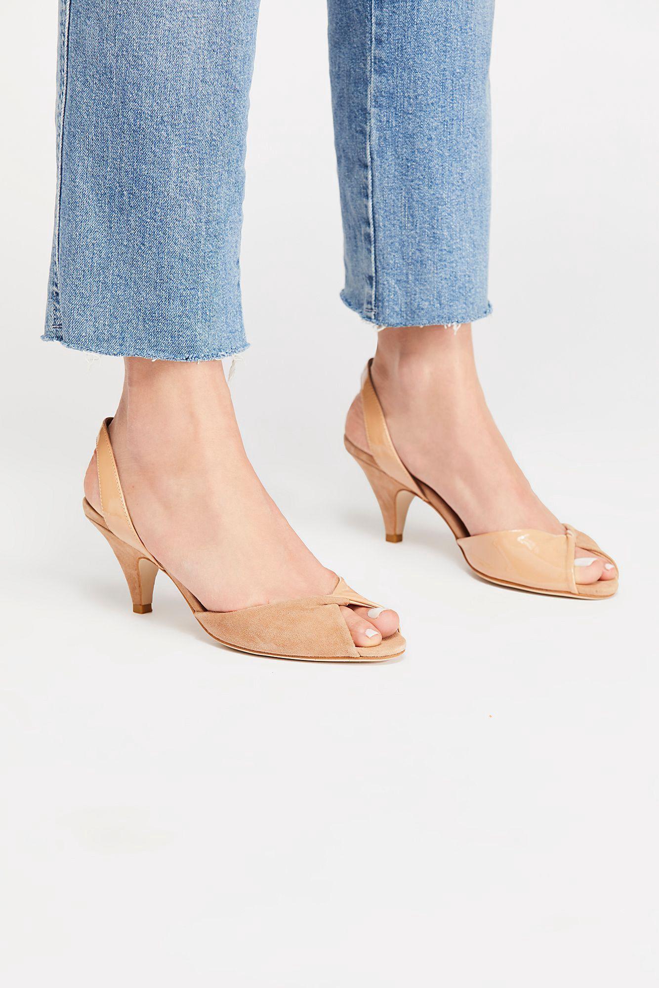 Free People Jaimie Kitten Heel Silver Gold Combo 6 5 Strap Heels Ankle Strap Heels Heels
