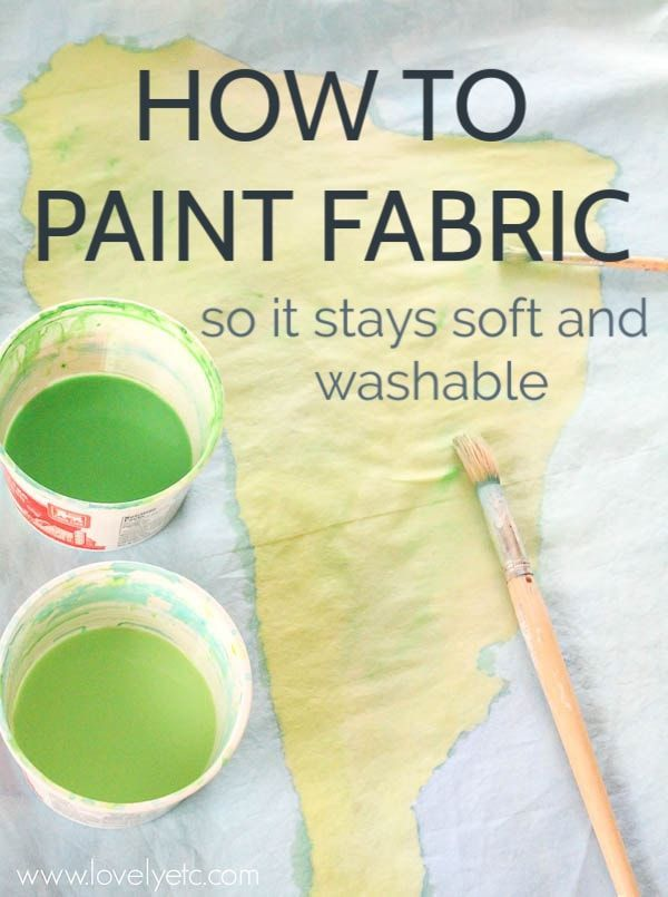 How to Paint Fabric for Beautiful DIY Projects - Lovely Etc.