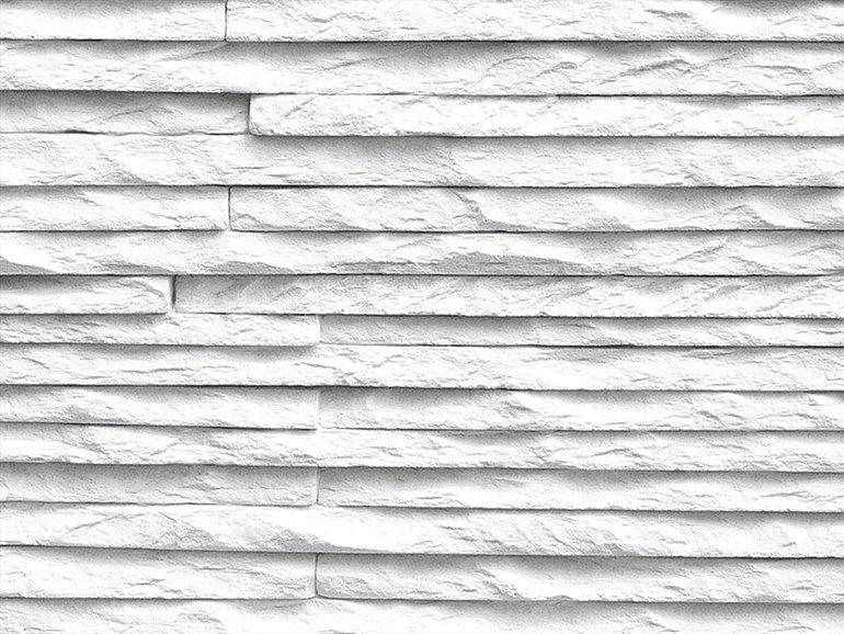 Rivestimento tridimensionale in pietra ricostruita per interni monte bianco collezione living by - Decorazioni in pietra per interni ...