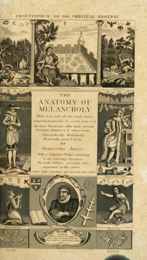 Modern The Anatomy Of Melancholy Summary Motif - Anatomy And ...