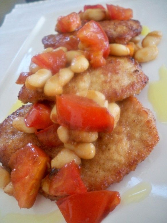 Pork Loin With White Beans Tomato And Garlic