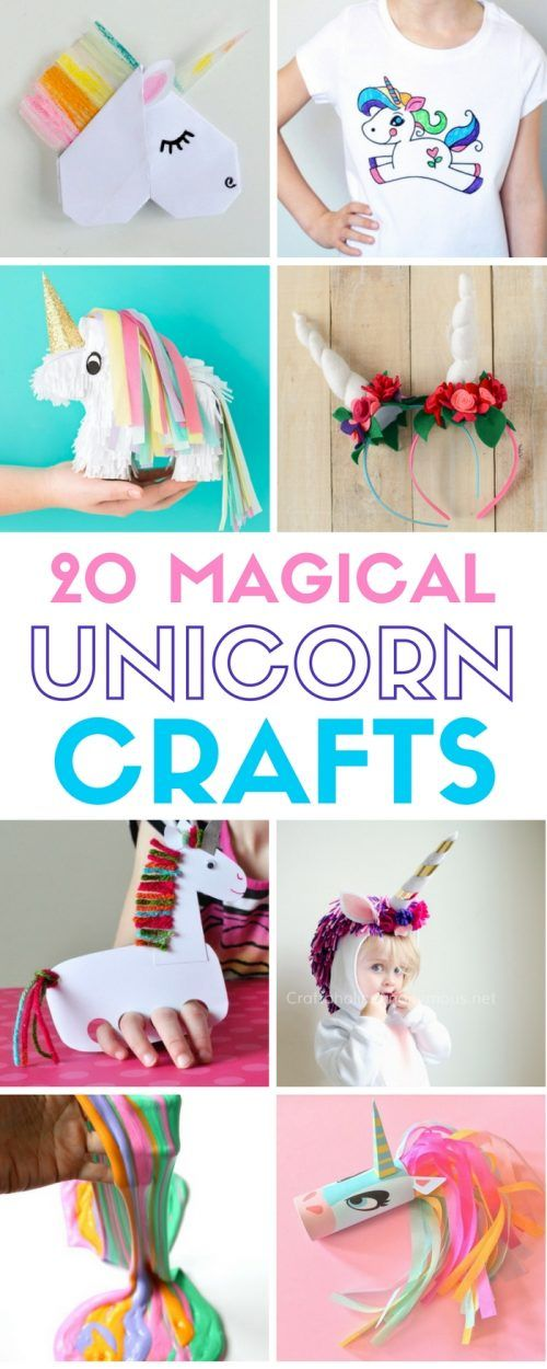 20 Easy Magical Unicorn Crafts Diy From The Crafty Blog Stalker