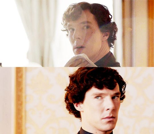 Sherlock + stunned/dumbfounded because of Irene