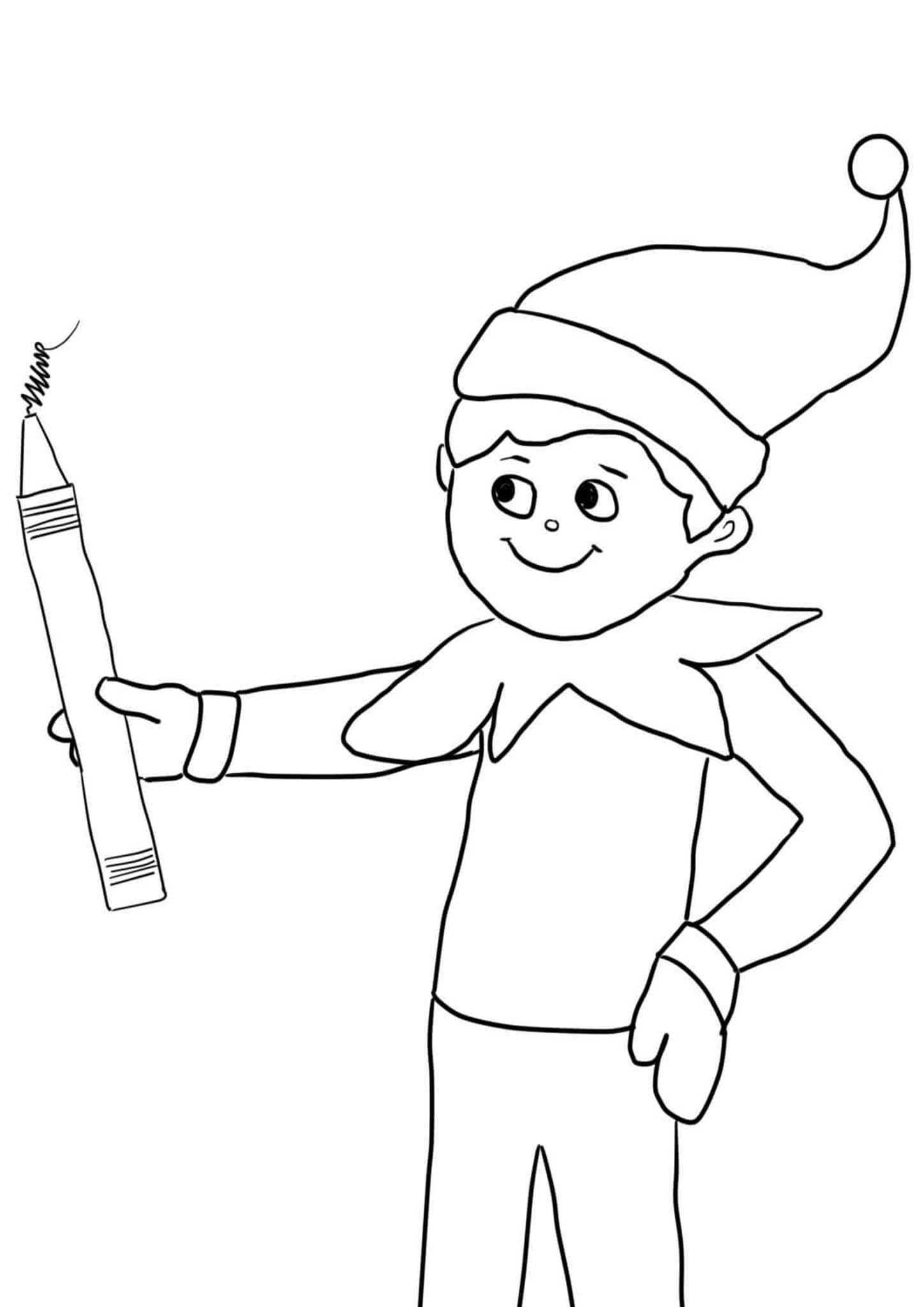 Elf On The Shelf Coloring Page He S Comfy And Cozy In His Holiday Sweats Christmas Coloring Pages Free Christmas Coloring Pages Awesome Elf On The Shelf Ideas