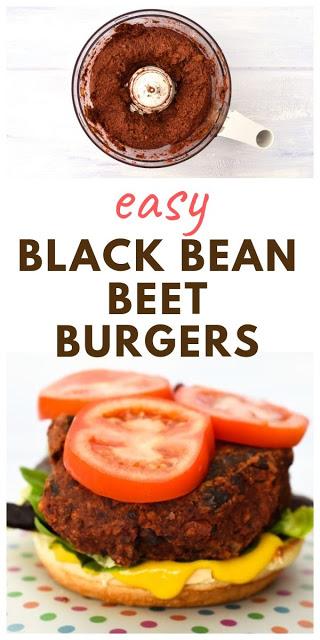 Black Bean Beet Brazil Nut Burgers