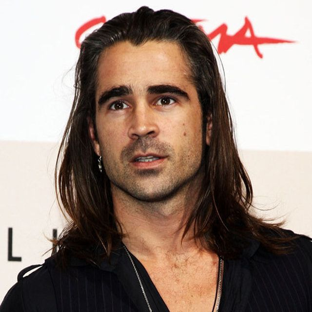 Pictures of Male Stars with Long Hair | Colin farrell, Dream man ...