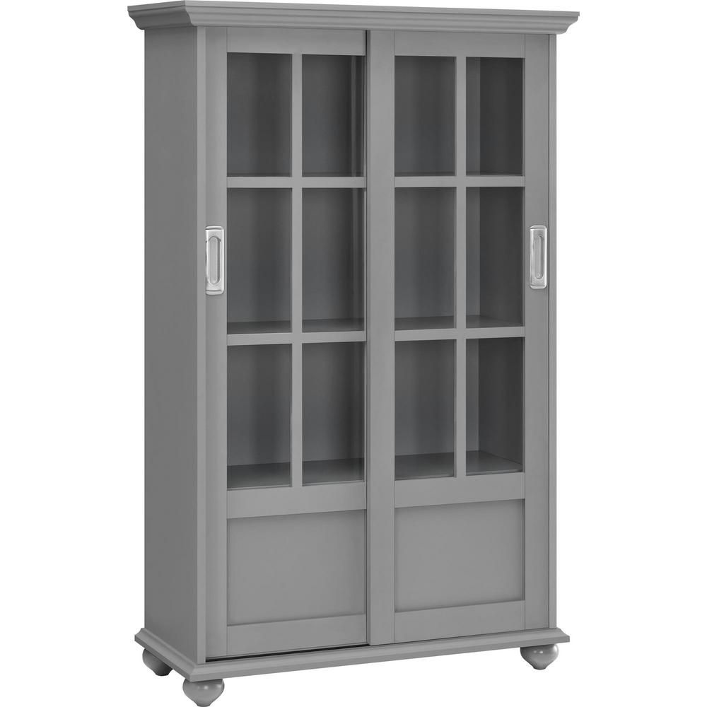 Ameriwood Home Abel Place 51 In Soft Gray Wood 4 Shelf Standard Bookcase With Adjustable