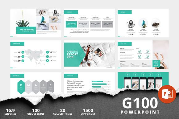 g100 magazine powerpoint template @creativework247 | templates, Powerpoint templates