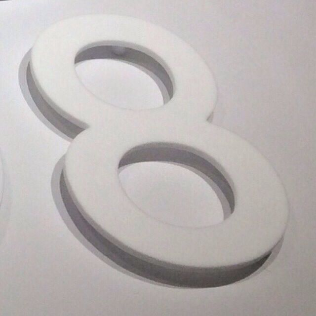 number 8 Large White Property Signs For any House, Flat, Apartment ...