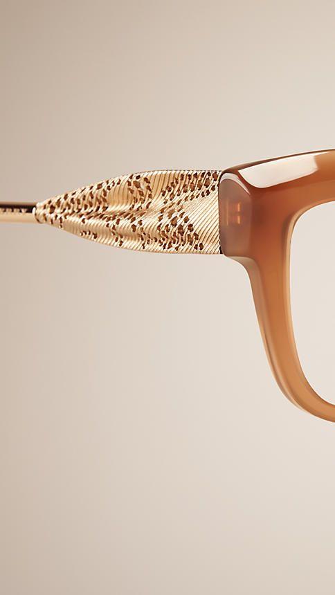 c8f391a64f Dark amber Gabardine Collection Cat-eye Optical Frames - Image 5